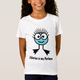 Chlorine is my Perfume - Blue Swim Character T-Shirt