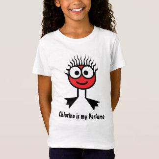 Chlorine is my Perfume - Red Swim Character T-Shirt