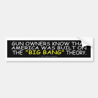 CHLORINE NEEDED/BIG BANG THEORY/COLD WORLD CAR BUMPER STICKER