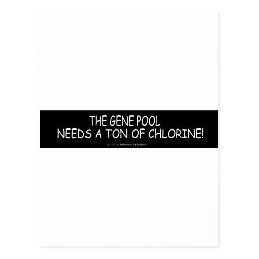 CHLORINE NEEDED/BIG BANG THEORY/COLD WORLD POSTCARD