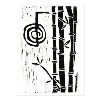Cho Ku Rei and Bamboo Postcard