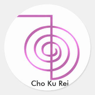 Cho Ku Rei Reiki Healing Symbol Round Sticker