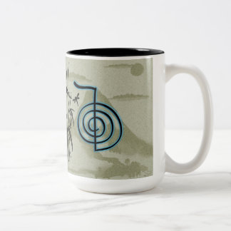Cho Ku Rei Reiki Mountain Two-Tone Coffee Mug