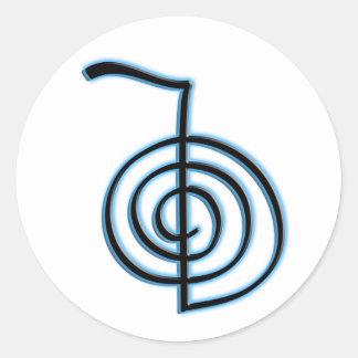 Cho Ku Rei Reiki Symbol Round Sticker