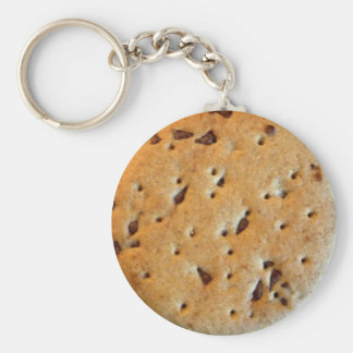 Choc Chip Cookie Basic Round Button Key Ring