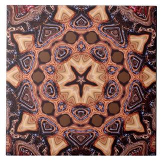 Choc Chip Mandala Geometry Ceramic Tile