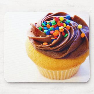 Choc frosted cupcake mouse pad
