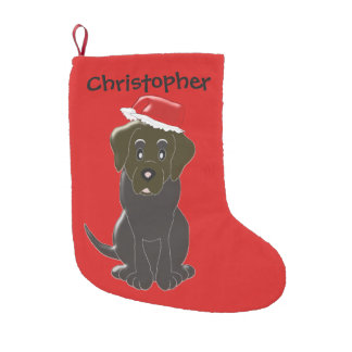 Choc Labrador Personalized Christmas Small Christmas Stocking