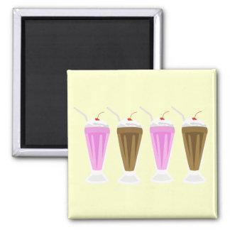 Choc + Straw Milkshake Magnet