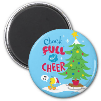 Chock Full Of Cheer 6 Cm Round Magnet