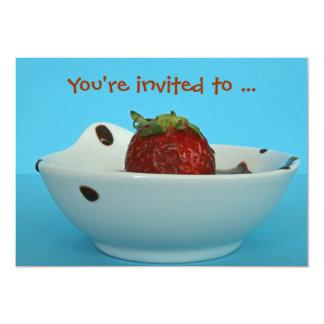 chocky bath 13 cm x 18 cm invitation card