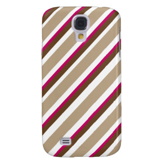 Choco Cherry Candy Stripes Samsung Galaxy S4 Case