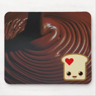 choco chocolate mousepad with toast