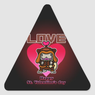 Choco Santanyan2 Triangle Sticker
