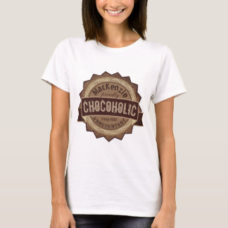 Chocoholic Chocolate Lover Grunge Badge Brown Logo T-Shirt