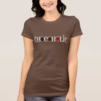 Chocoholic, Chocolate Lover with Red Heart T-Shirt