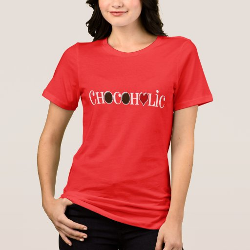 Chocoholic, Chocolate Lover with Red Heart Shirt