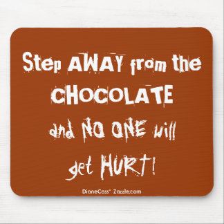 Chocoholic Chocolate Warning Mouse Mat
