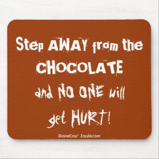 Chocoholic Chocolate Warning Mouse Pad