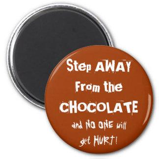 Chocoholic Chocolate Warning Refrigerator Magnets