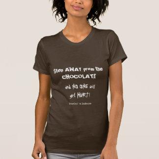 Chocoholic Chocolate Warning T Shirts