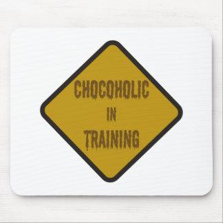 Chocoholic in training mouse pad