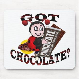 """Chocoholic Ladybug – """"Got Chocolate?"""" Design Mouse Mat"""