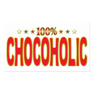 Chocoholic Star Tag Business Card Template