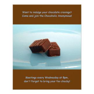 Chocoholics Anonymous meetings Flyer Design