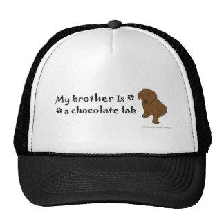 ChocoLabPuppyBrother Cap