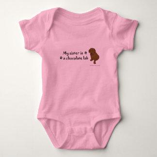 ChocoLabPuppySister Baby Bodysuit