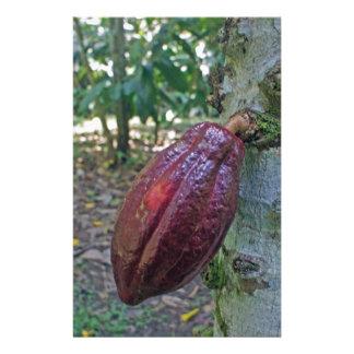 chocolade fruit personalized stationery
