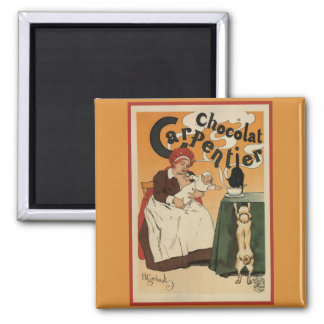 Chocolat Carpentier Vintage French Ad Magnet