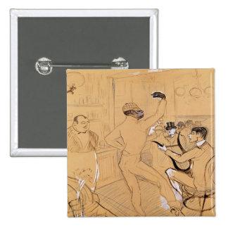 Chocolat Dancing, 1896 Button