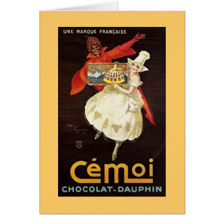 Chocolat Dauphin French Girls1924 Greeting Card