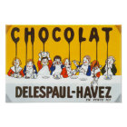 Chocolat Delespaul Havez French advertisement Poster