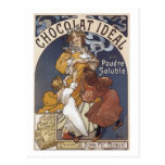 Chocolat Ideal Vintage Ad Postcard