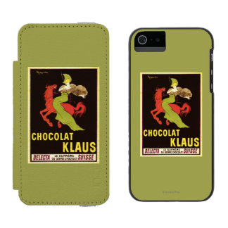 Chocolat Klaus Advertisement Poster Incipio Watson™ iPhone 5 Wallet Case