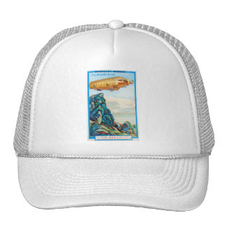 Chocolat Masson Ad with Zeppelin Airship Mesh Hats