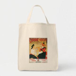 Chocolat Vincent Vintage Food Ad Art Canvas Bags