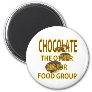 Chocolate 6 Cm Round Magnet