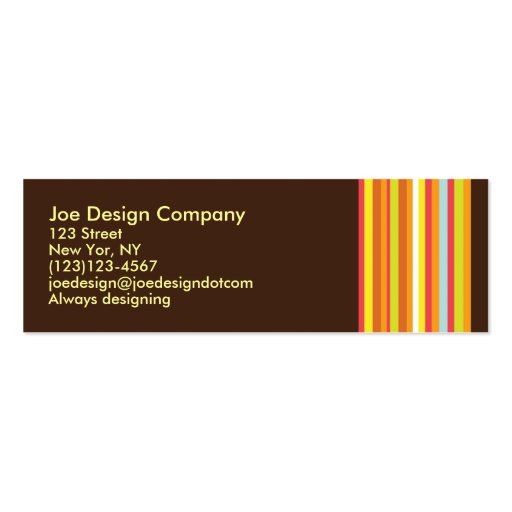 Chocolate Abstract Business Cards