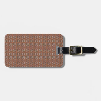 Chocolate Abstract Luggage Tag