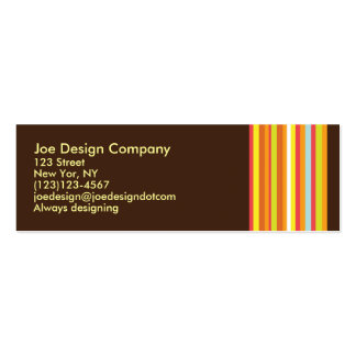 Chocolate Abstract Pack Of Skinny Business Cards