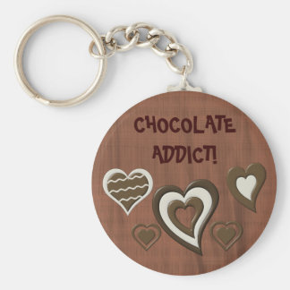 Chocolate Addict Basic Round Button Key Ring