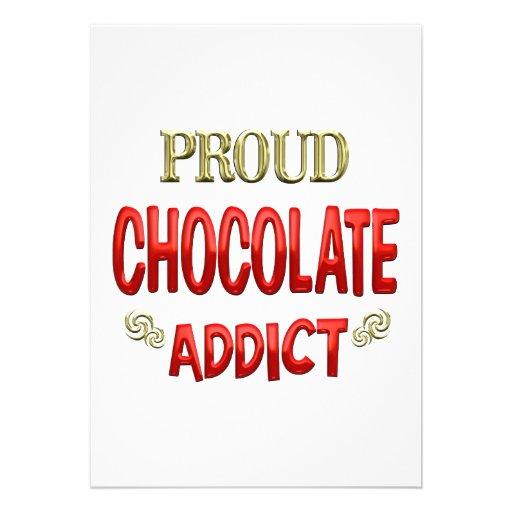 Chocolate Addict Personalized Invitation