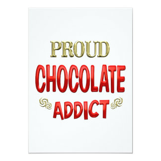 "Chocolate Addict 5"" X 7"" Invitation Card"