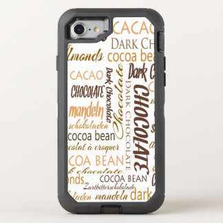 Chocolate, Almonds and Dark Chocolate Word Cloud OtterBox Defender iPhone 7 Case