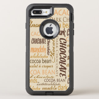 Chocolate, Almonds and Dark Chocolate Word Cloud OtterBox Defender iPhone 7 Plus Case