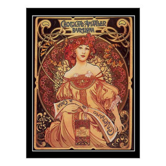 Chocolate Amatller Vintage Poster alphons mucha